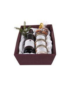 Gourmet-Weihnachtskorb – mit Korb