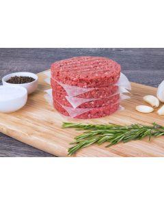 Burger Patties aus abgehangenem Rindfleisch