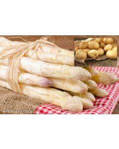 Frischer Spargel mit Kartoffeln aus Bayern.