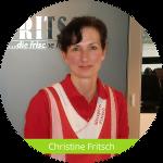 Christine Fritsch in ihrer Arbeitskleidung.