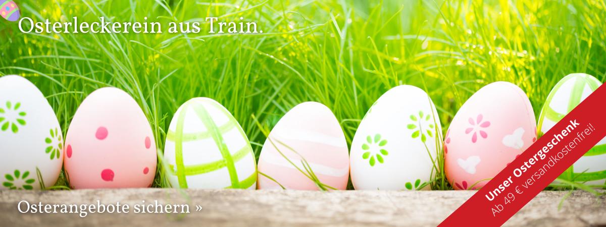 Osterleckerein aus Train – Osterangebote sichern.